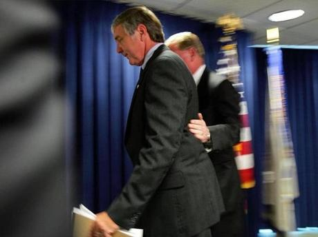 Sullivan departed in 2005 with Kenneth Kaiser of the FBI after announcing that Thomas Finneran, then State House speaker, had been indicted on perjury charges.